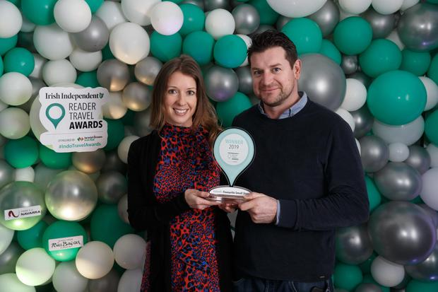 Lloyd and Molly Williams – Owners of Hidden Valley, voted Ireland's Favourite Small Stay at the Irish Independent Reader Travel Awards. Photo: Fran Veale