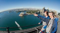Thomas Breathnach climbing the Sydney Harbour Bridge