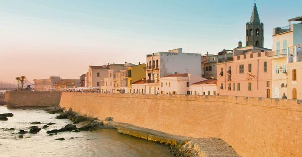 Laid-back vibe: The port town of Alghero on Sardinia