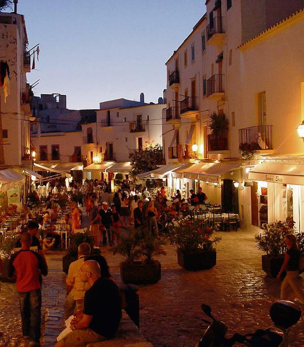Ibiza Old Town is full of restaurants and cafes