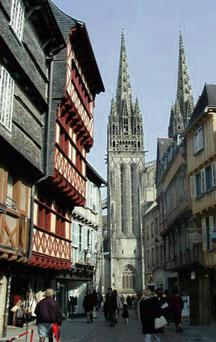 ALLURING: The quaint little town of Quimper, with its narrow streets and medieval squares, is like stepping back in time and is not to be missed when visiting this beautiful area