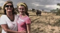 Anup Shahhe's behind you! Madeleine Keane and daughter Julia got up close and personal with the wildlife