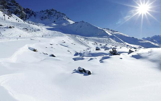The slopes at the Alpine resort of Meribel