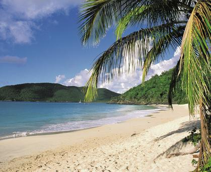 BEAUTY SPOTS: With visits to places such as Charlotte Amalie on St Thomas and Philipsburg in St Maarten during this cruise, there were ample opportunities to enjoy the Caribbean's pure white sand, whilst admiring the turquoise water, with barely a cloud in the sky
