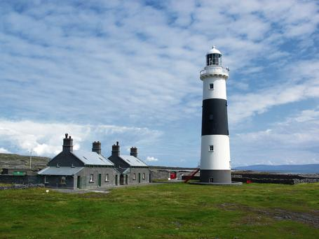 CLIFFHANGER: The Lighthouse Trail has recently been launched - pictured is Inisheer Lighthouse.