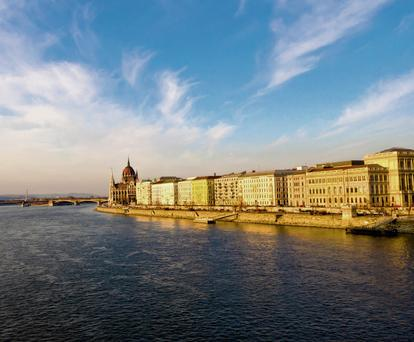 GLORIOUS: A panoramic view of Budapest, the starting point for the luxurious cruise along the River Danube. The city is a cultured imperial city, very conscious of its history