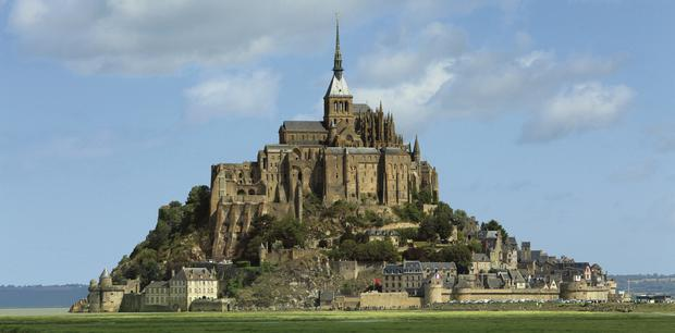 AWESOME: Mont St Michel made an impact on Jamie Blake Knox when he first saw it as a child. Almost two decades later, the spectacular Gothic spires of the medieval abbey still stunned and impressed