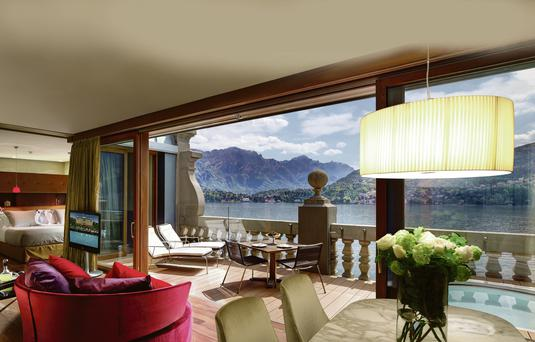 SUNNY OUTLOOK: The view from the Grand Hotel Tremezzo.
