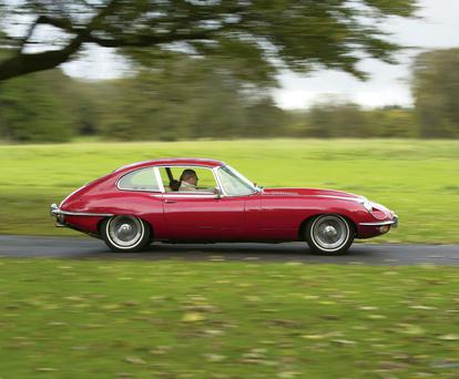 FULL THROTTLE: RetroVentures supplies classic cars, such as this Jaguar E-Type, for those looking for a country drive with a difference