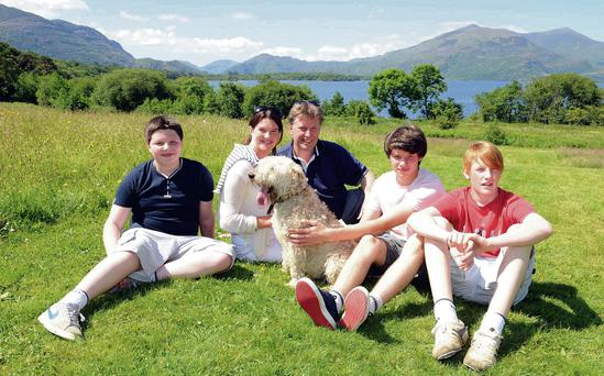 David and Fiona Murphy enjoy a holiday at home with sons Jack and Charlie and cousin Nicholas