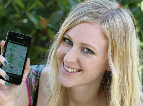 Clicked: Aileen Power uses apps on her travels.