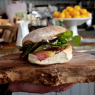 A Waterford blaa, served at Hatch & Sons, Dublin.
