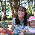 FAMILY FUN: Louise McBride with her son Kelan and daughter Lara share a picnic near the town of Vannes in Brittany
