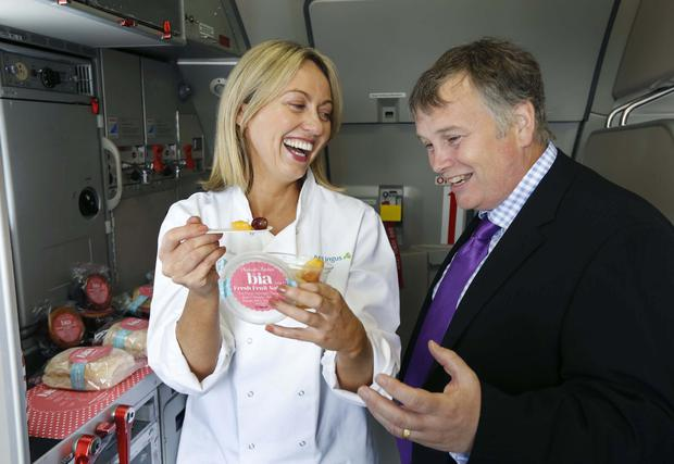Clodagh McKenna designed a range of in-flight meals for Aer Lingus.