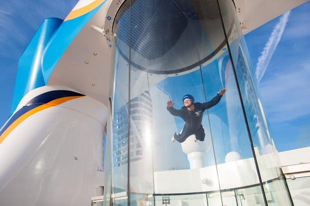 Ripcord by Iflyer skydiving simulator, Quantum of the Seas.