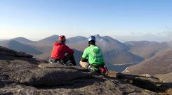 Deirdre Reynolds and her friend, also called Deirdre, set themselves a Four Peak Challanege and started off with Slieve Donard