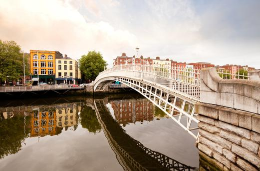 Dublin's Ha'penny Bridge: The city is one of Lonely Planet's Top 10 to visit in 2016.