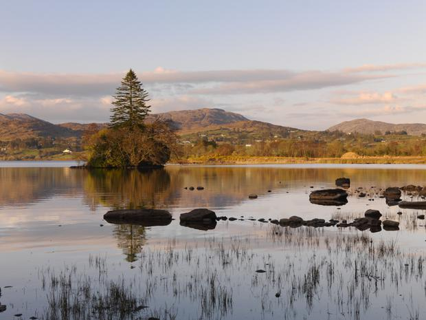 Lake water lapping: This part of Donegal, around Lough Eske, has a breathtaking beauty in early spring