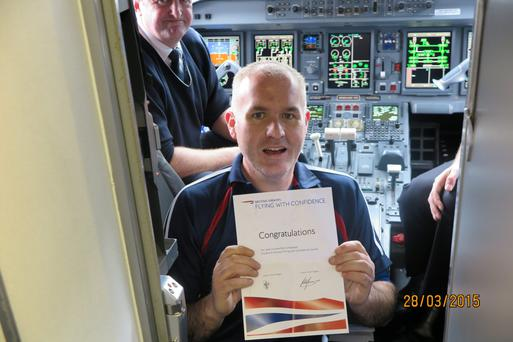 Mark Evans with his certificate
