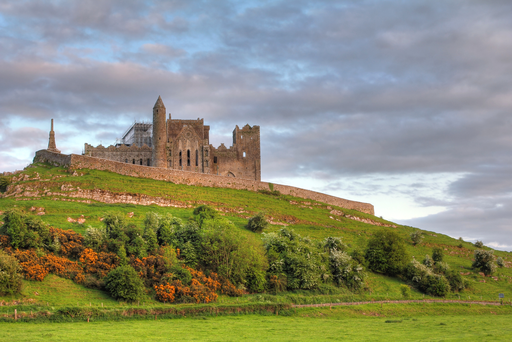 The Rock of Cashel at sunset.