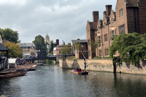 Punting in Cambridge. Photo: Tony Gavin