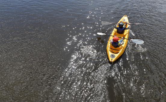 Kayaking on Lough Muckno, Monaghan
