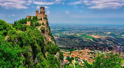 Rocca della Guaita, the most ancient fortress of San Marino, Italy