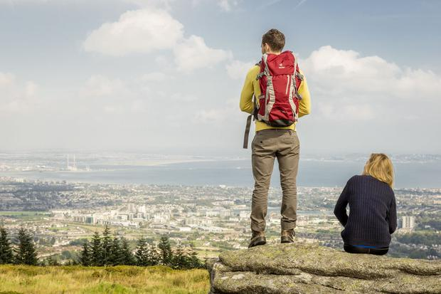 View over South Dublin from the Dublin Mountains. Photo: Rob Durston/Fáilte Ireland