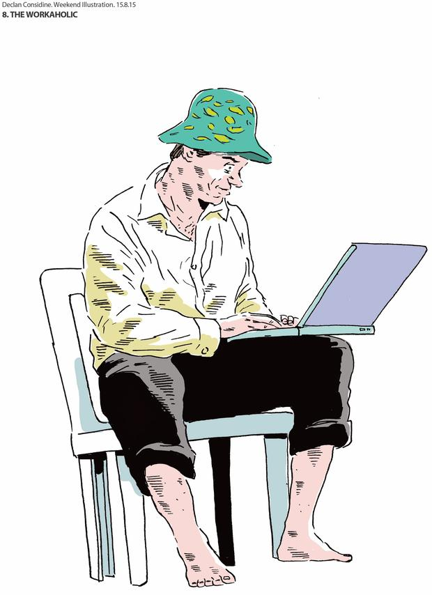 The workaholic. Illustration: Declan Considine