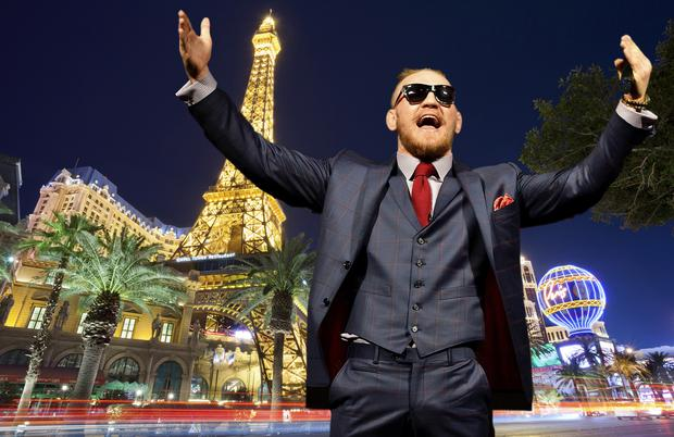 Conor McGregor in Las Vegas (composite image).