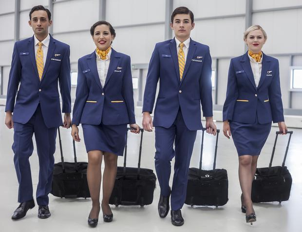 Ryanair's new uniform. Photo: Tiane King
