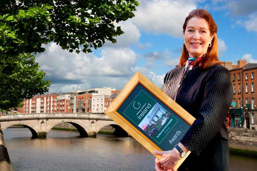 Composite: Georgina Campbell with Dublin in background. The Georgina Campbell Awards 2015 are announced today.