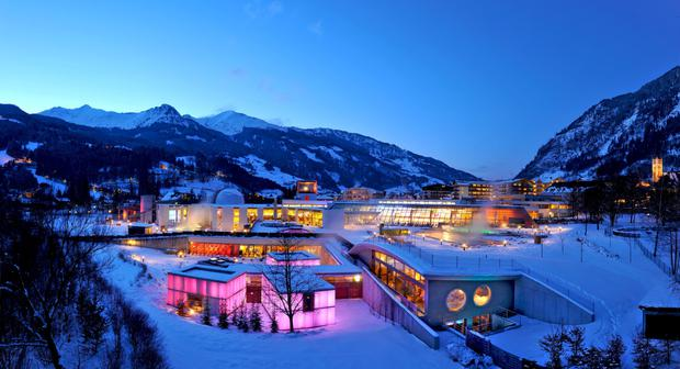 Austria's Bad Hofgastein is home to the Alpentherme spa resort.