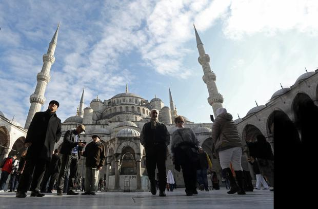 Hotspot: The Blue Mosque in Istanbul. Despite the unrest in Turkey, the country is still popular with Irish tourists.