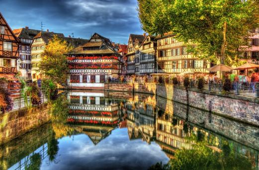 Thriving: Strasbourg may be famous as a home for Eurocrats, but it also boasts a wonderful gastronomic scene and a beautifully preserved historic centre