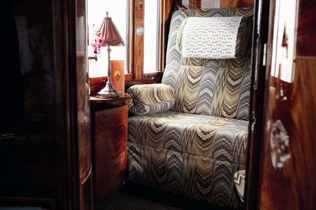 A cabin on the Venice Simplon-Orient-Express