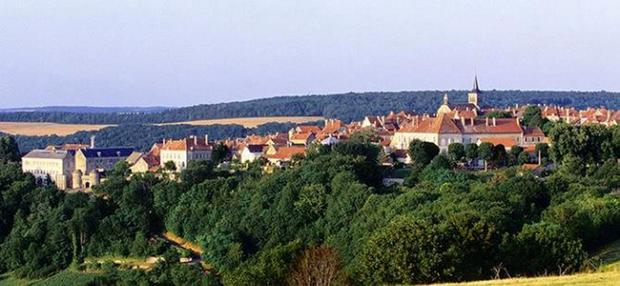 Pastoral: Burgundy teems with Elysian medieval villages. Flavigny-sur-Ozerain, pictured, is where the 2000 Hollywood movie 'Chocolat' was filmed