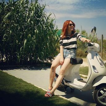 Angela Scanlon holiday snaps