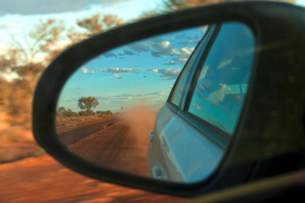 Outback road mirror reflection, Central Midlands. Western Australia: Photo by May,ll/ullstein bild via Getty Images