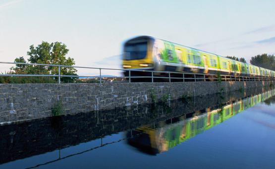 Stock photo of commuter train, Longford. Photo: Irish Rail