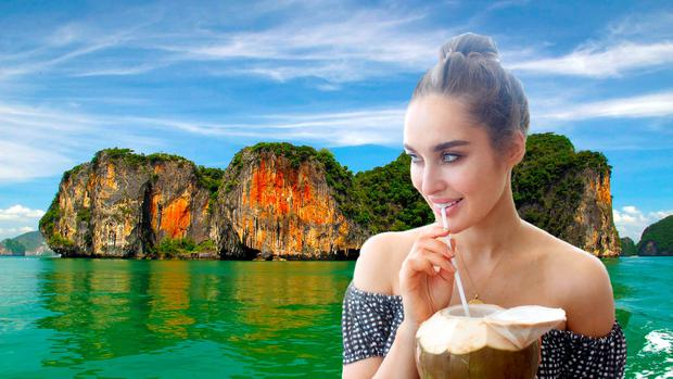 Roz Purcell in Thailand (composite image).