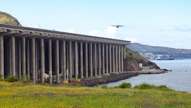 Madeira's Funchal Airport, Portugal. Photo: Deposit
