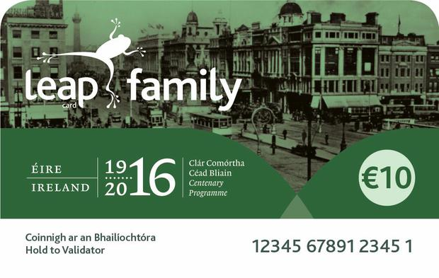 Limited edition leap card offers family travel in dublin for