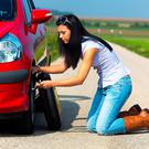 Flat tyres - one of Europe's most common scams, according to AIG. Photo: Deposit