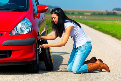 Three-in-four motorists have had a flat in the last year, according to a survey. Photo: Deposit