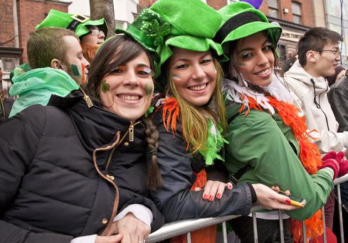 St. Patrick's Day celebrations. Photo: Fáílte Ireland