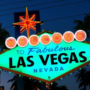 The iconic 'Welcome to Fabulous Las Vegas' sign joins Tourism Ireland's Global Greening initiative, to celebrate the island of Ireland and St Patrick. Pic – Sam Morris / Las Vegas News Bureau