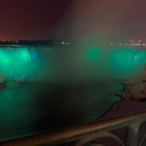 Niagara Falls joins Tourism Ireland's Global Greening, to celebrate the island of Ireland and St Patrick. Pic – Jules Oille