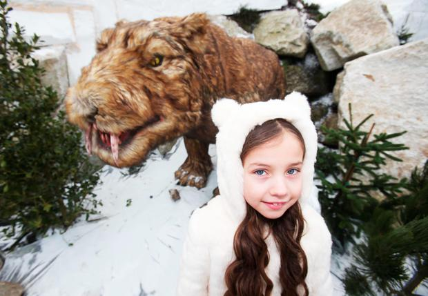 Malena Behan, 7, from Palmerstown at the new 'Ice Valley' at Tayto Park. Photo: Leon Farrell/photocall Ireland.