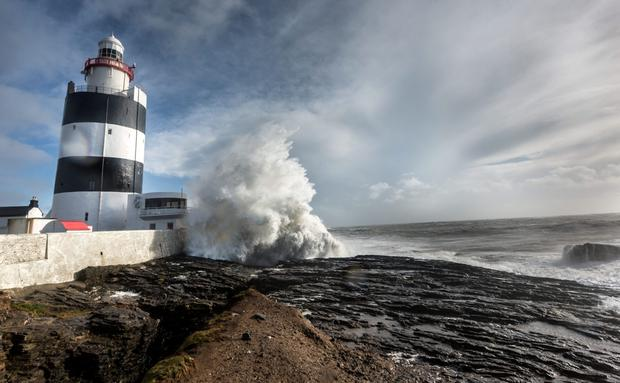 Hook Lighthouse, at Hook Head, was built in the 12th Century, and has great views of the surrounding countryside and seascape. Photo: Dylan Vaughan